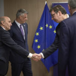 Aleksandar Vucic (r) at the EU-brokered Serbia-Kosovo talks (Photo: eeas.europa.eu)
