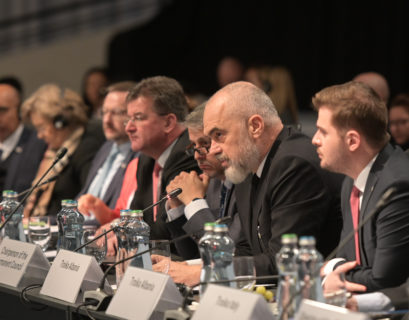Edi Rama, Prime Minister of Albania during the opening session of the 26th OSCE Ministerial Council, Bratislava, 5 December 2019. Copyright: All rights reserved to OSCE/441751